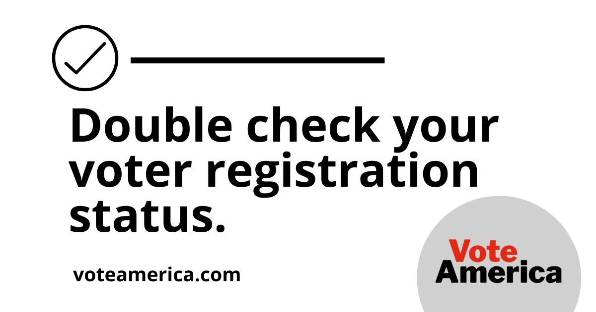 Check on voter registration status